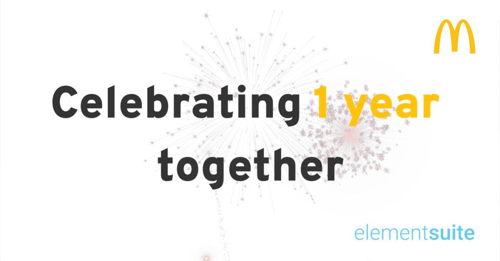 Celebrating 1 year together